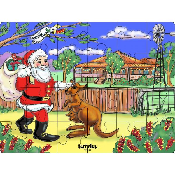 Santa in the Outback Puzzle (24pcs)