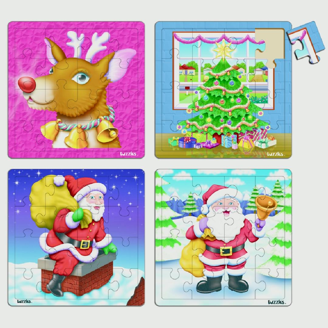 Christmas Puzzles (Set of 4)