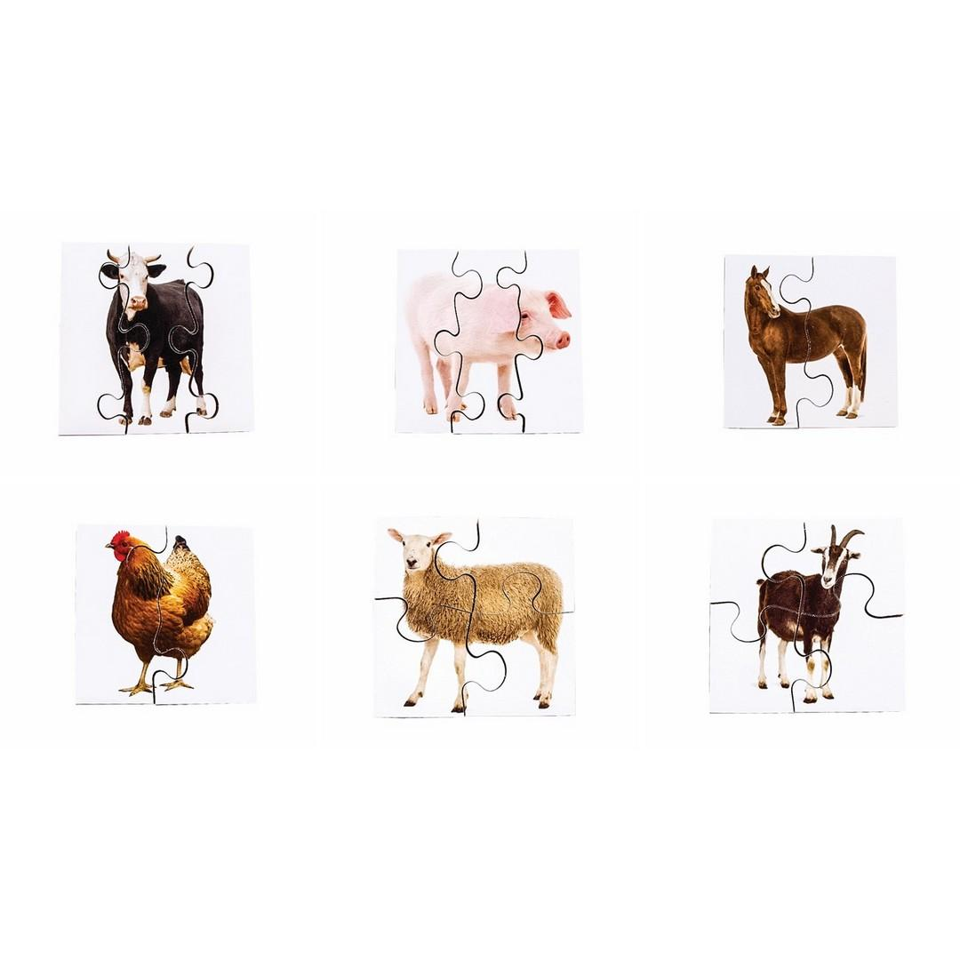 Real Life Farm Animals First Puzzles (6 puzzles)