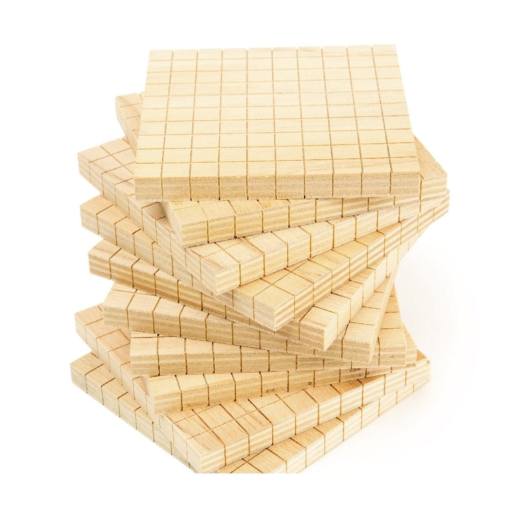 Base 10 Wooden Flats (10pcs)