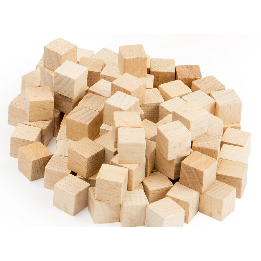 Base 10 Wooden Cubes (100pcs)