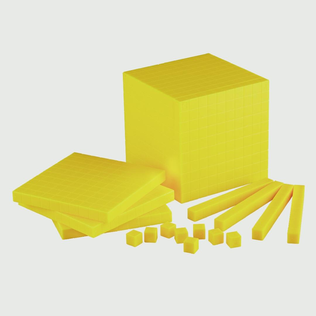 Base 10 Plastic Cubes (100pcs)