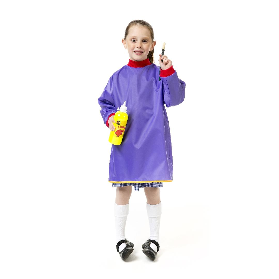 Quality Preschool Art Apron with Sleeves