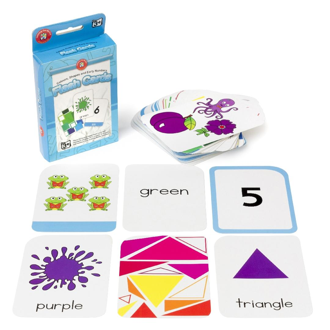 Colours, Shapes & Early Numbers Flashcards