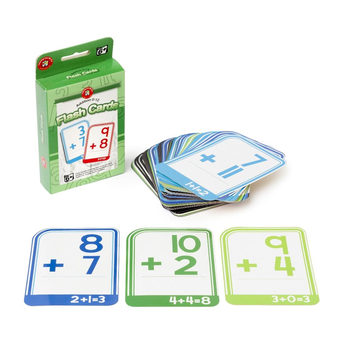 Addition 0-12 Flashcards