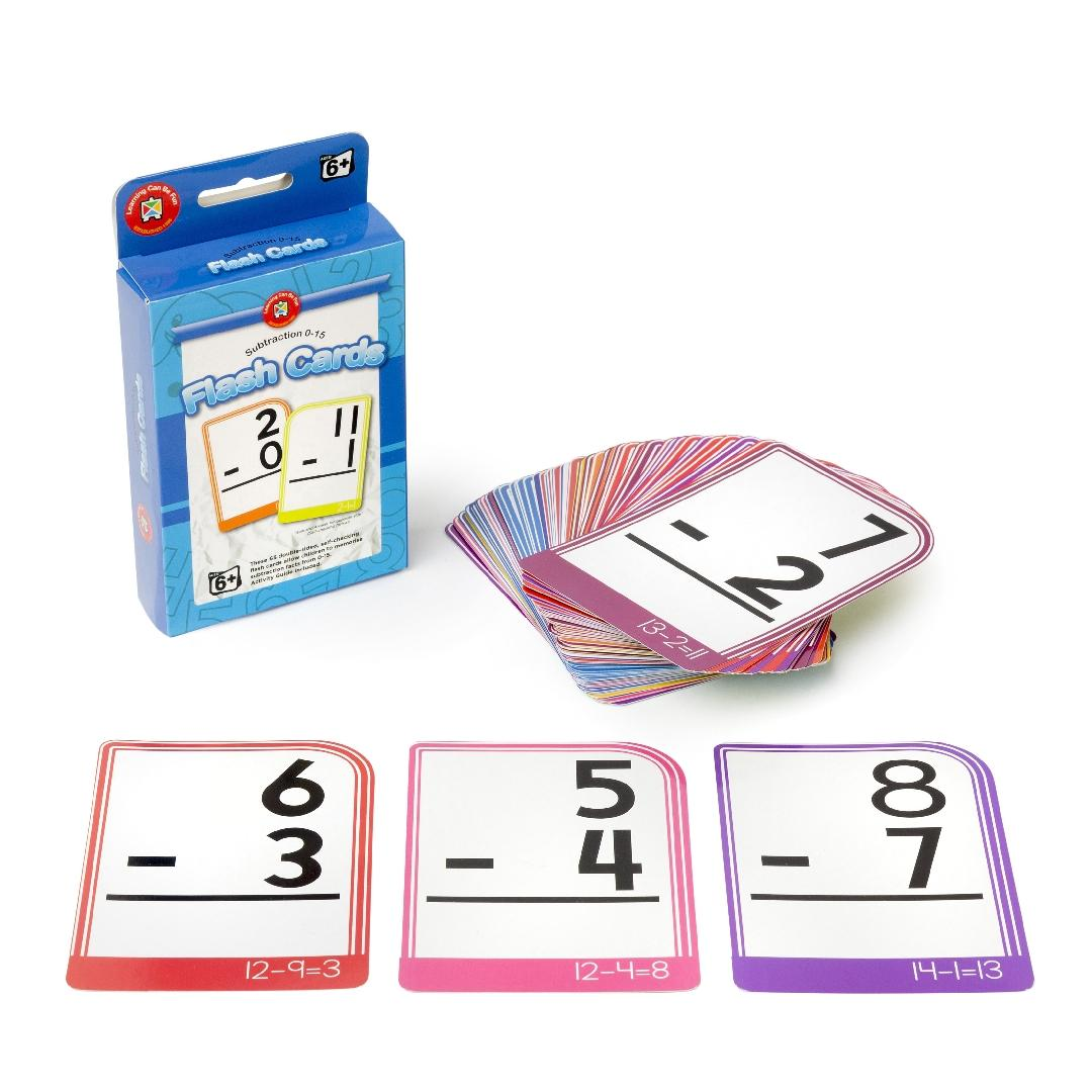Subtraction 0-15 Flashcards