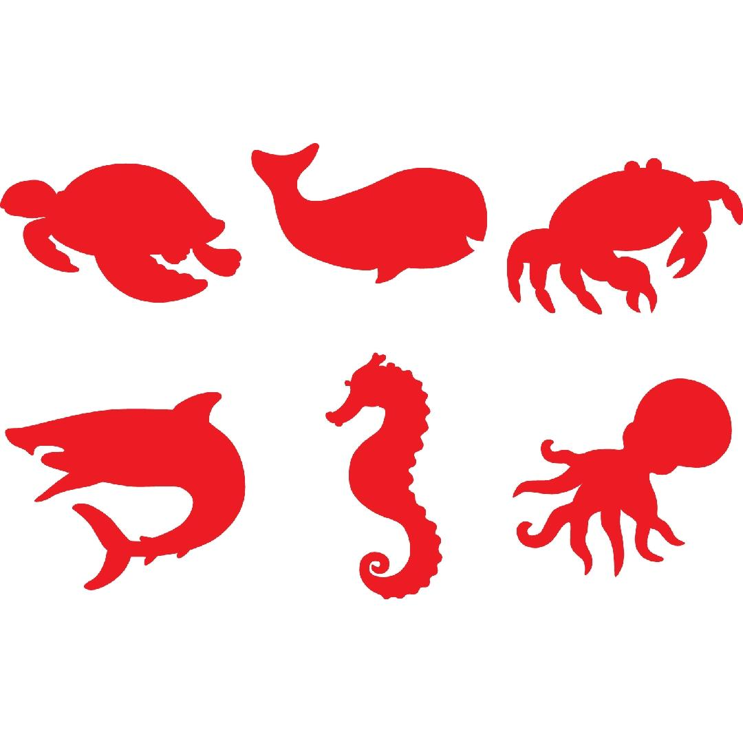 Sea Life Paint & Dough Stampers (Set of 6)