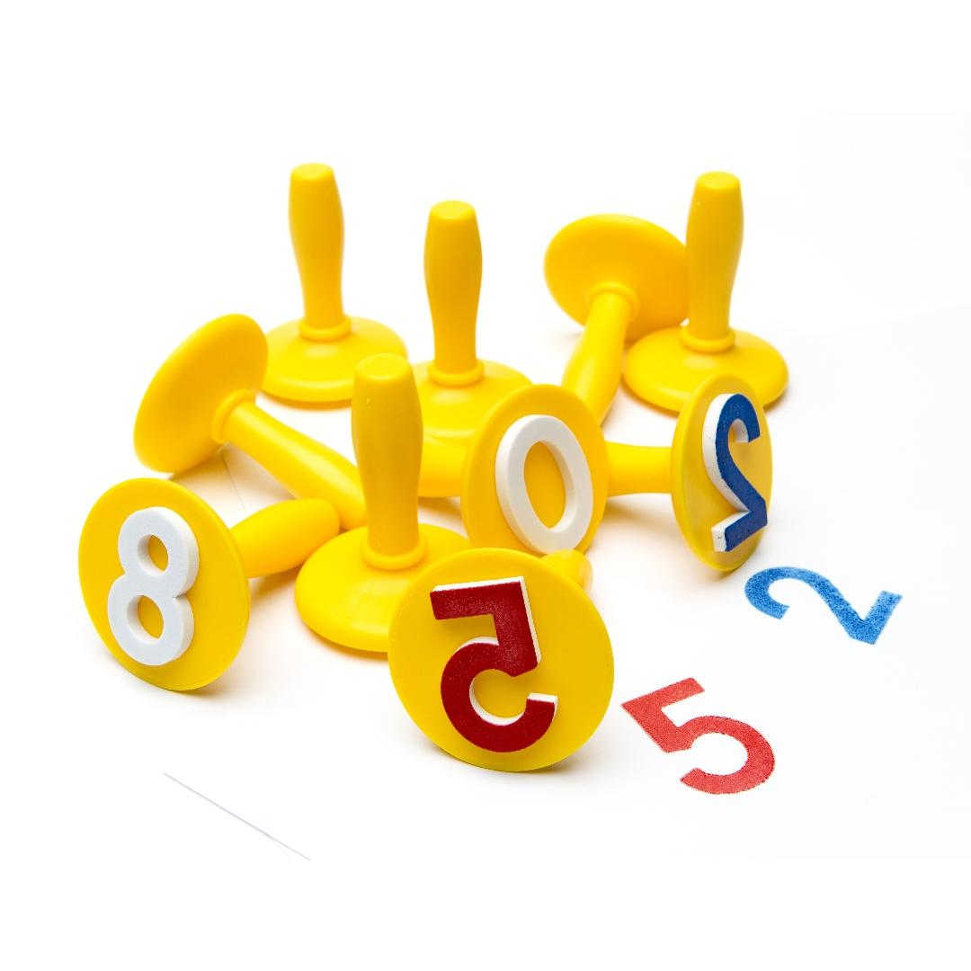 Numbers 0-9 Paint & Dough Stampers (Set of 14)