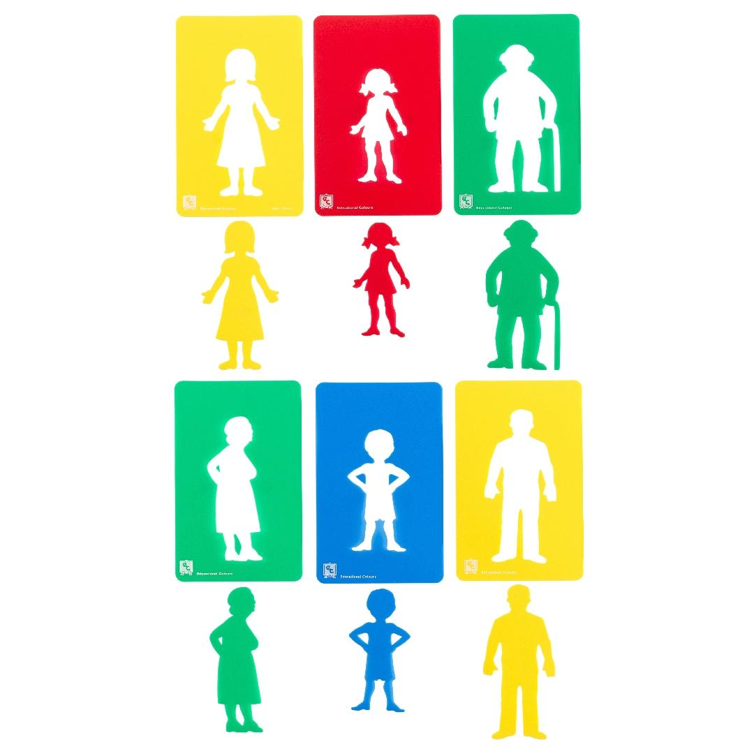 Family Members Stencils (Set of 6)