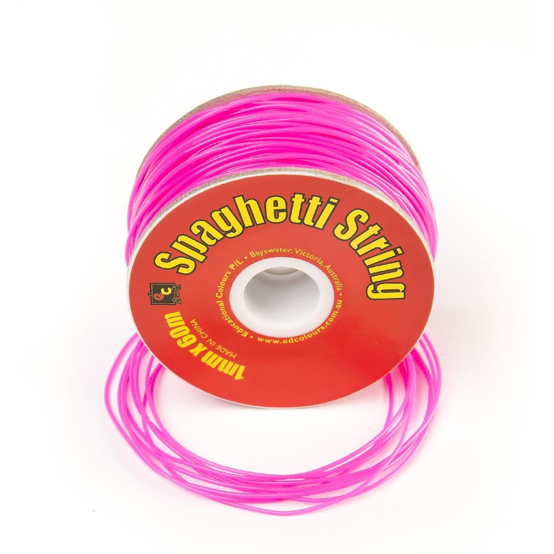 Spaghetti String Fluoro Pink (60m)