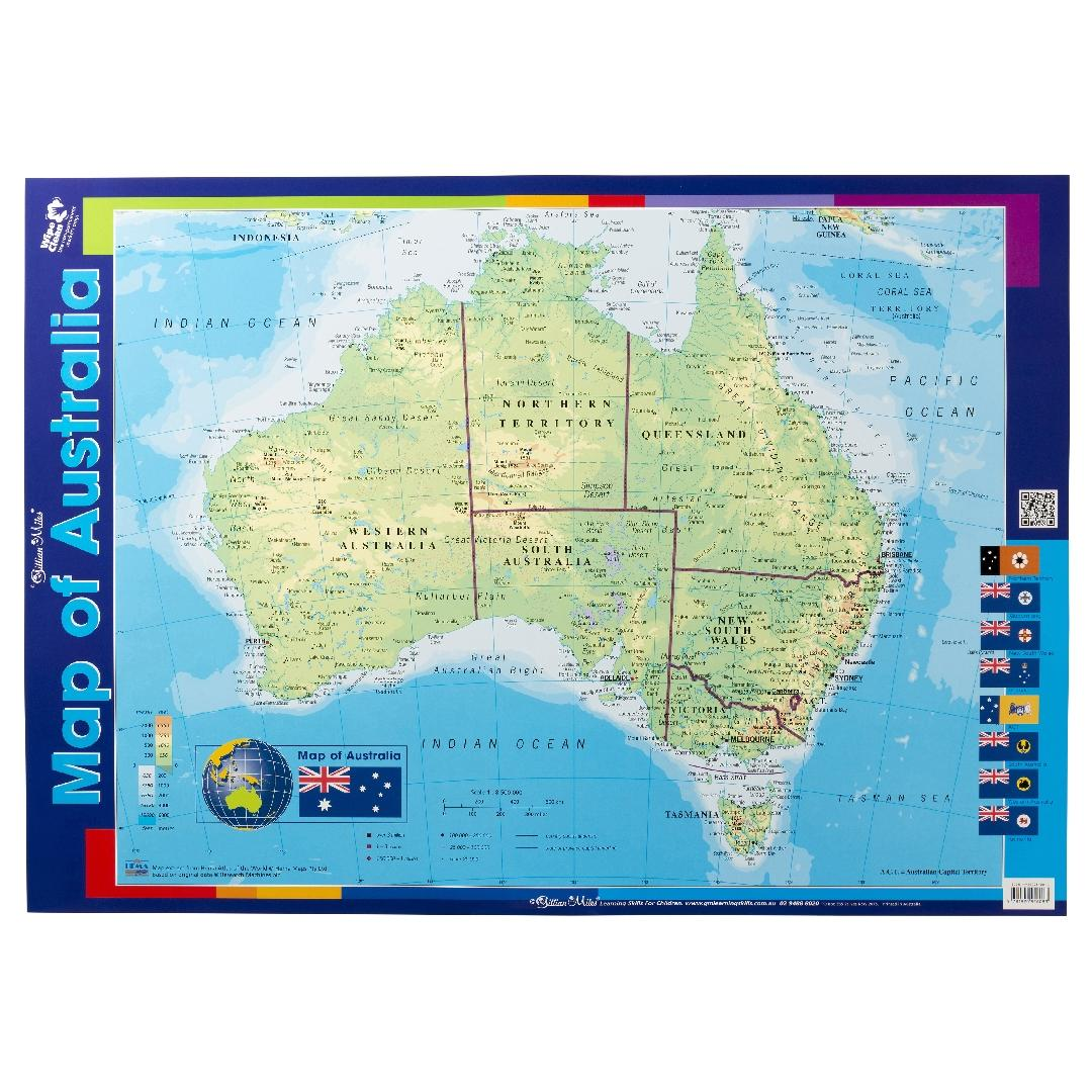 Map of Australia Double Sided