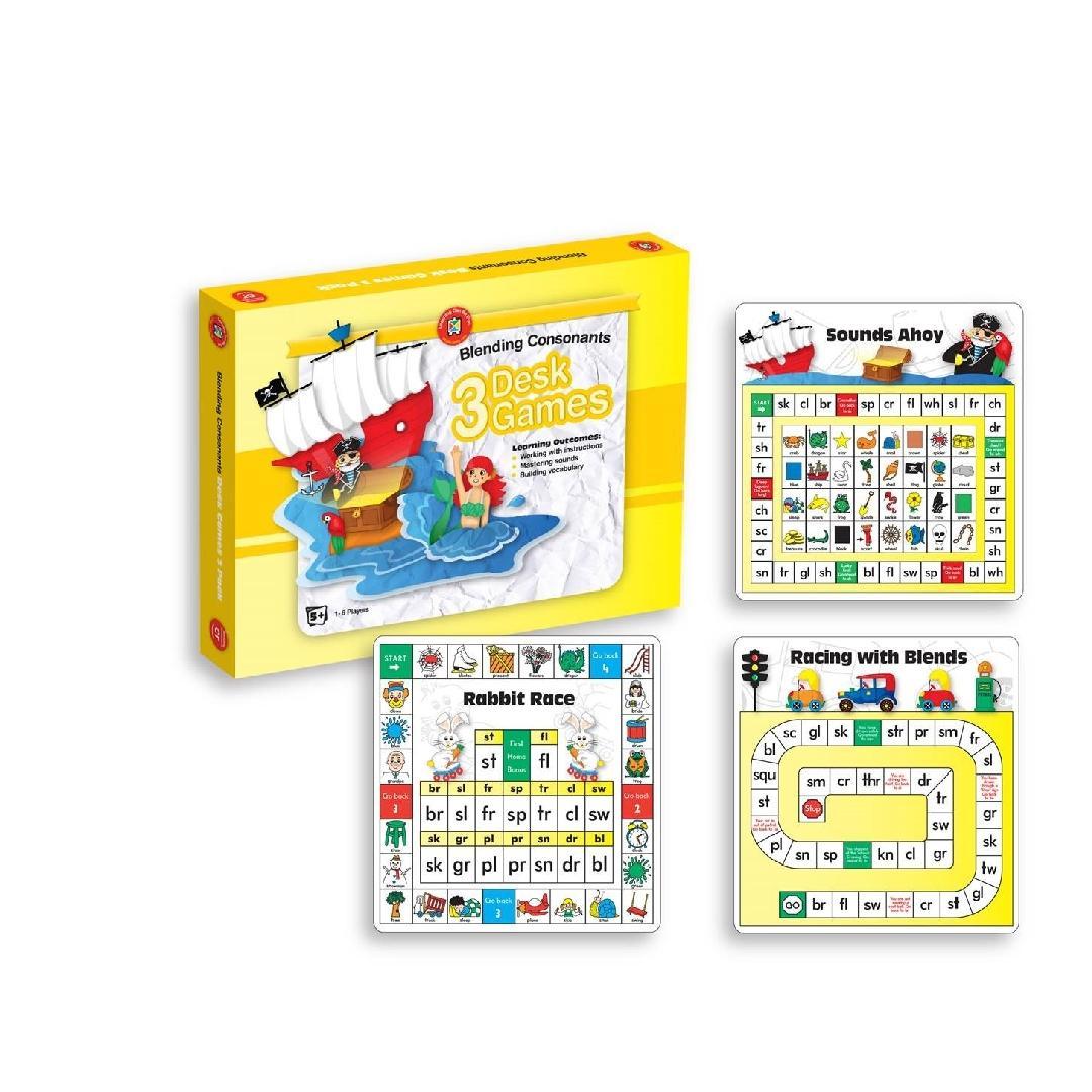 Blending Consonants Desk Games (Box of 3)