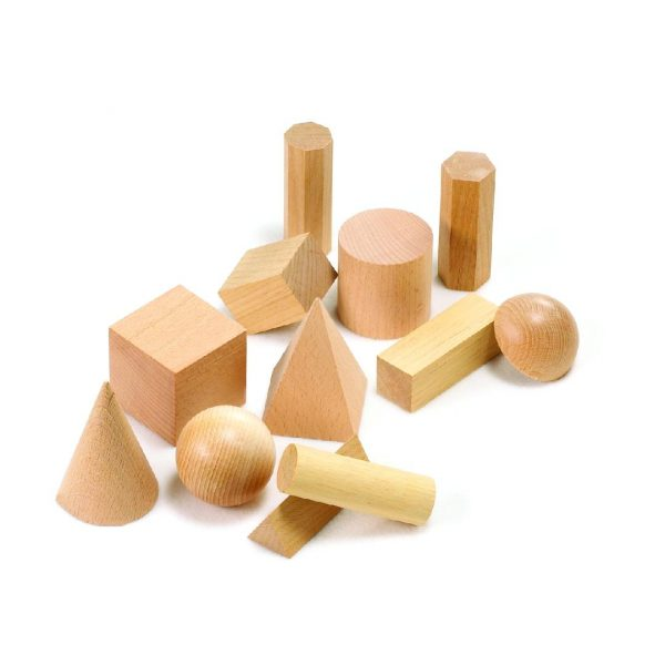 Wooden Geometric Solids (Jar of 12)