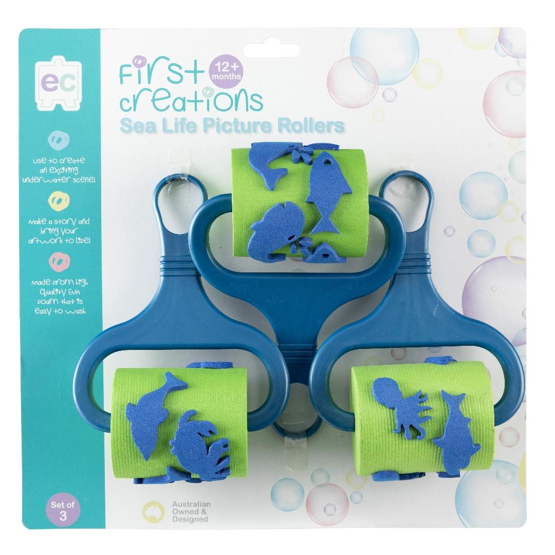 Sea Life Picture Rollers (3pcs)