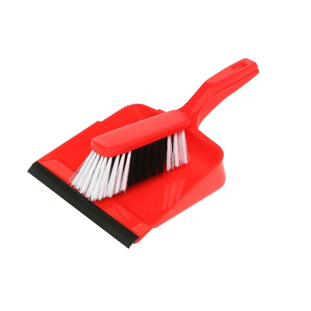 Dustpan & Brush Set Red