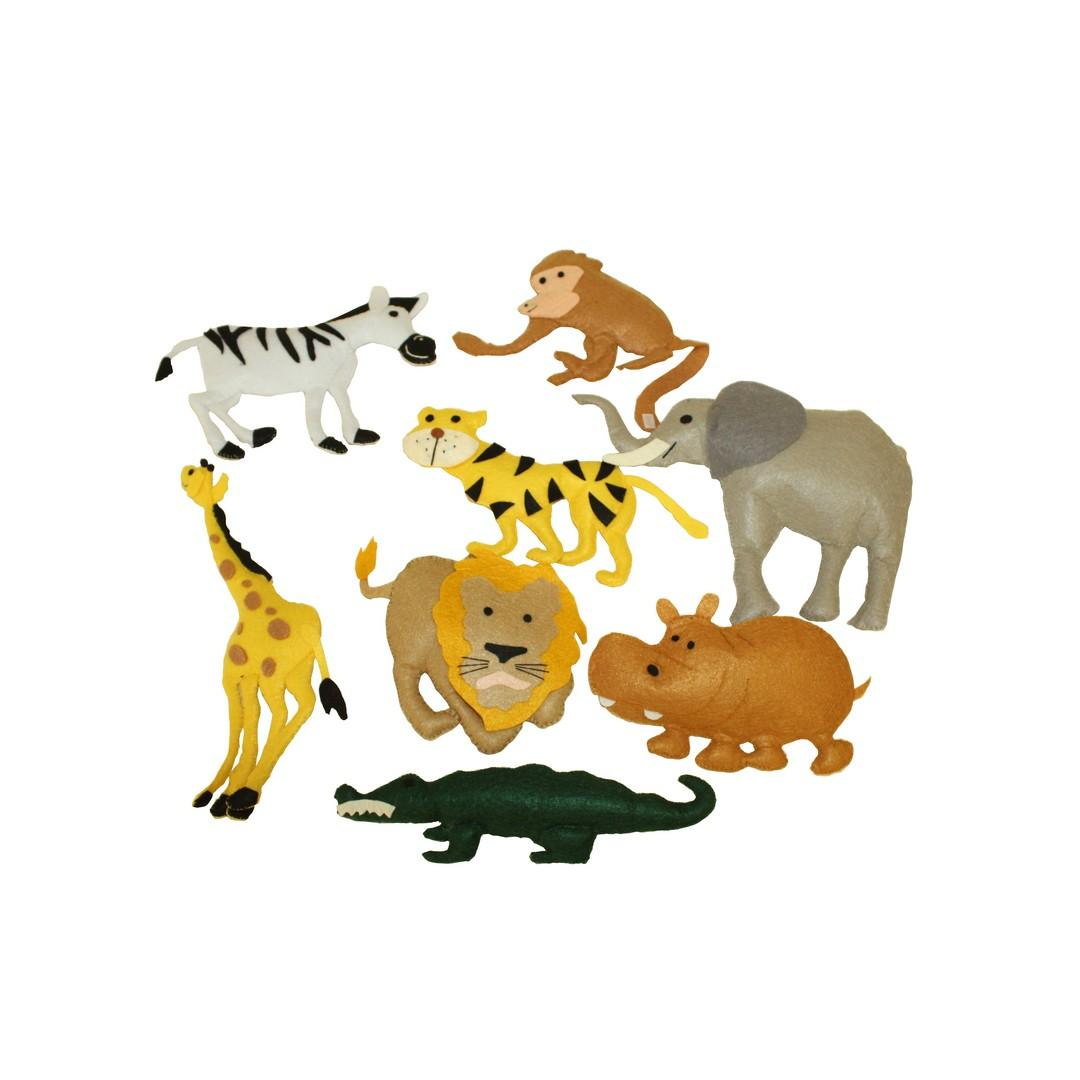 3D Felt Wild Animals (8pcs)