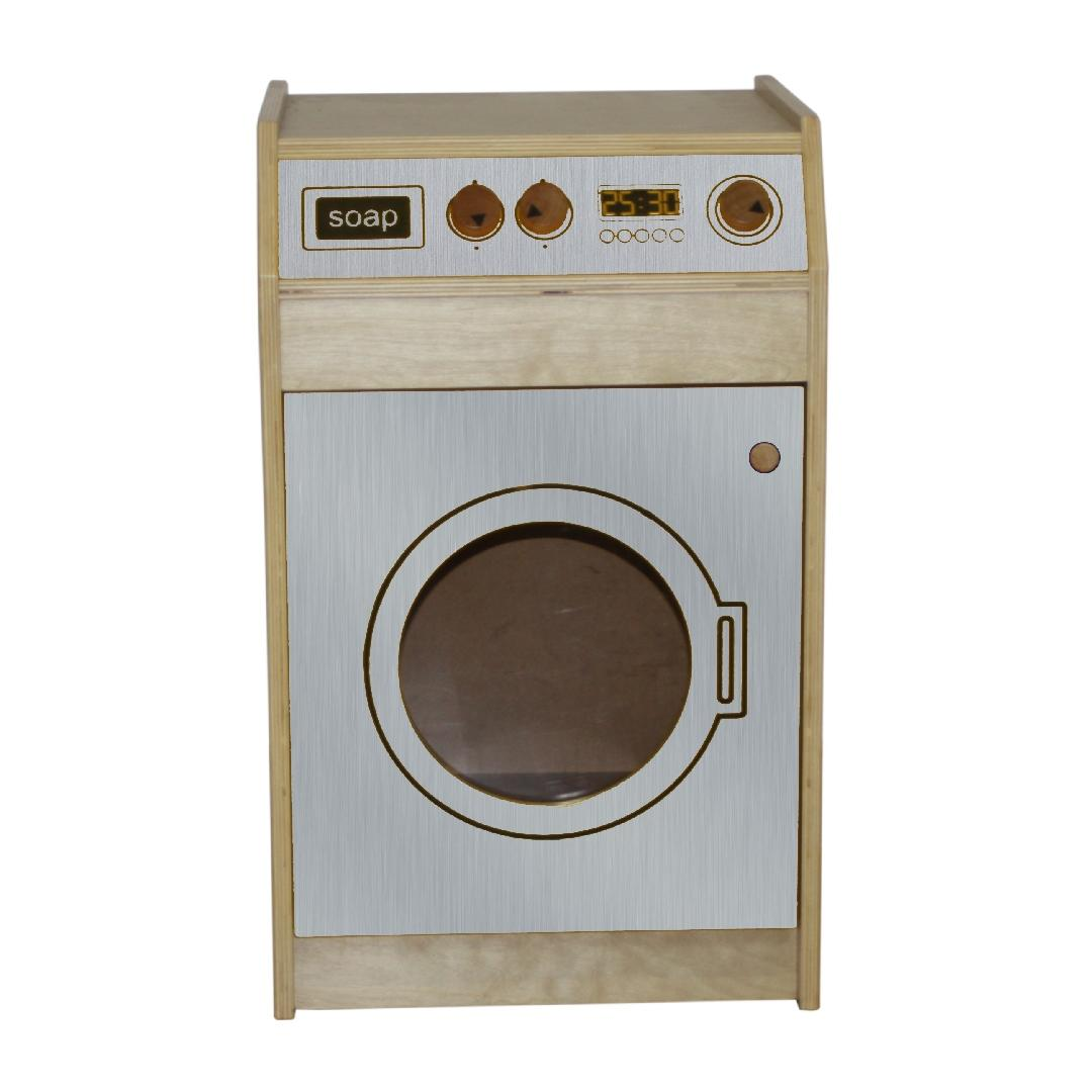 Brushed Silver Natural Washing Machine