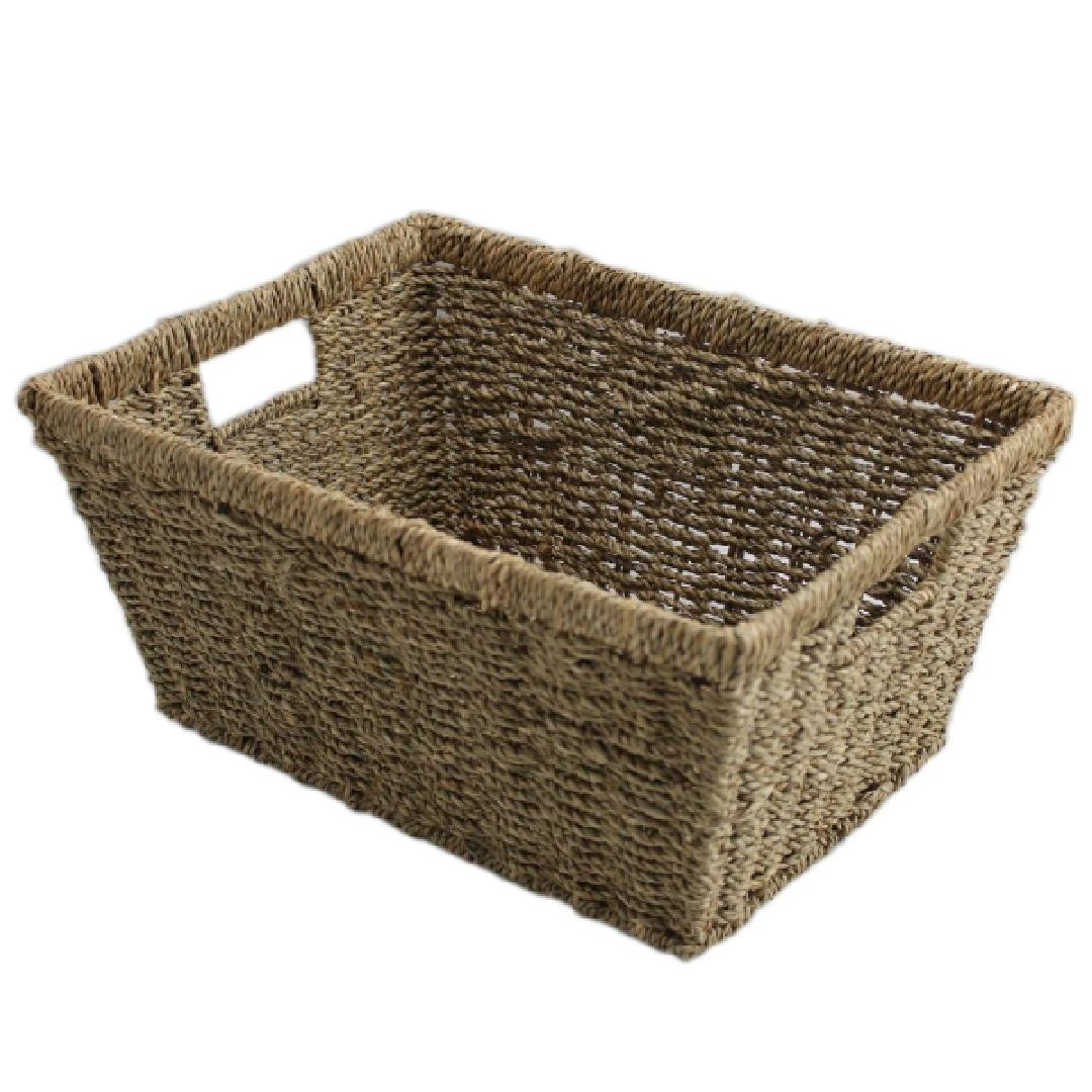 Seagrass Tapered Basket 38x28x18.5cm Light