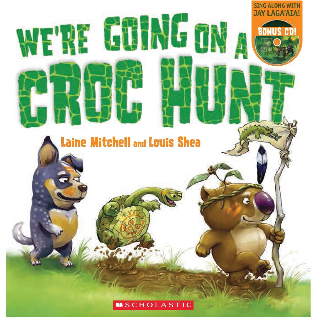 We're Going on a Croc Hunt Picture Book + CD
