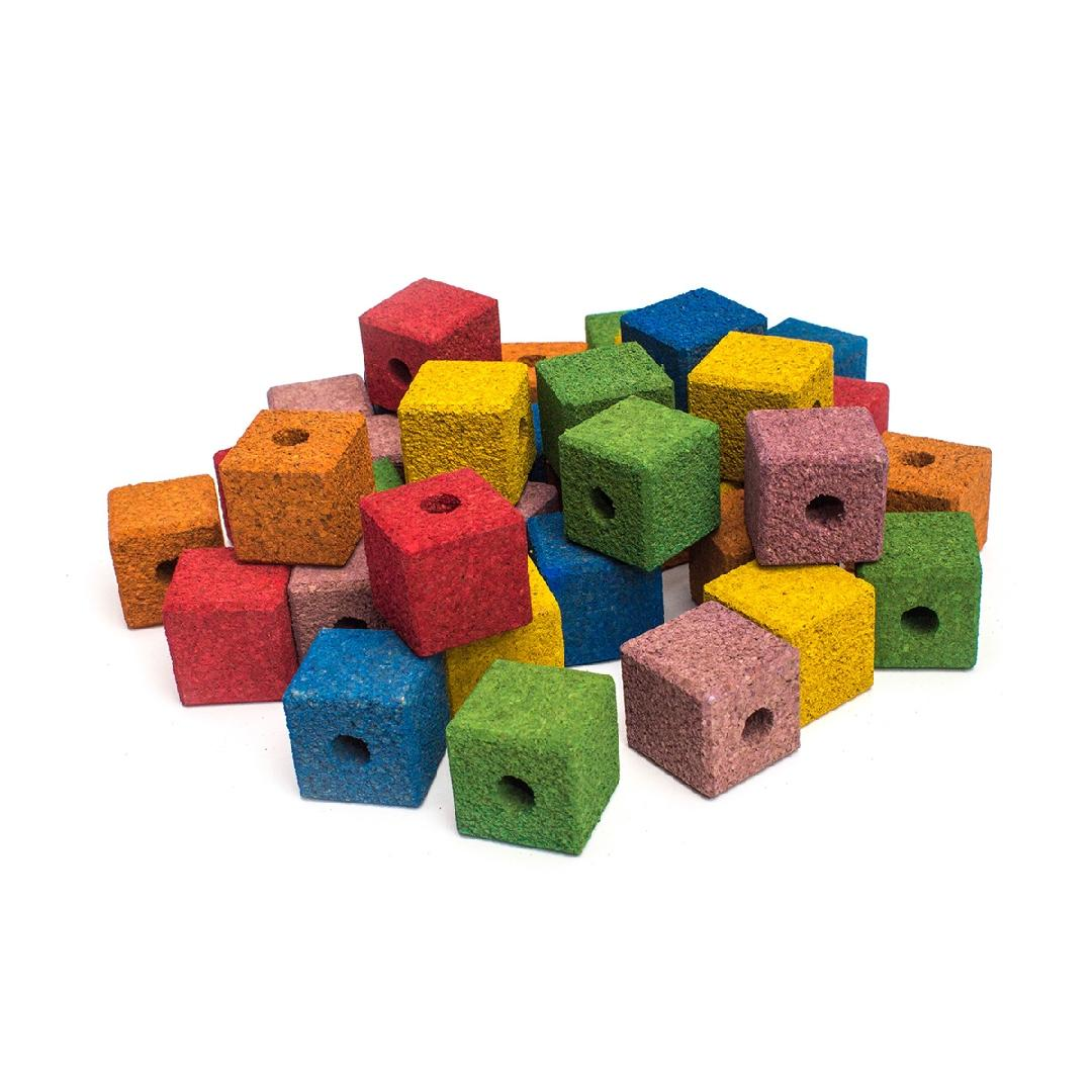 Coloured Cork Cubes (36pcs)