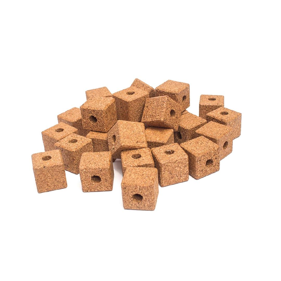 Natural Cork Cubes (36pcs)