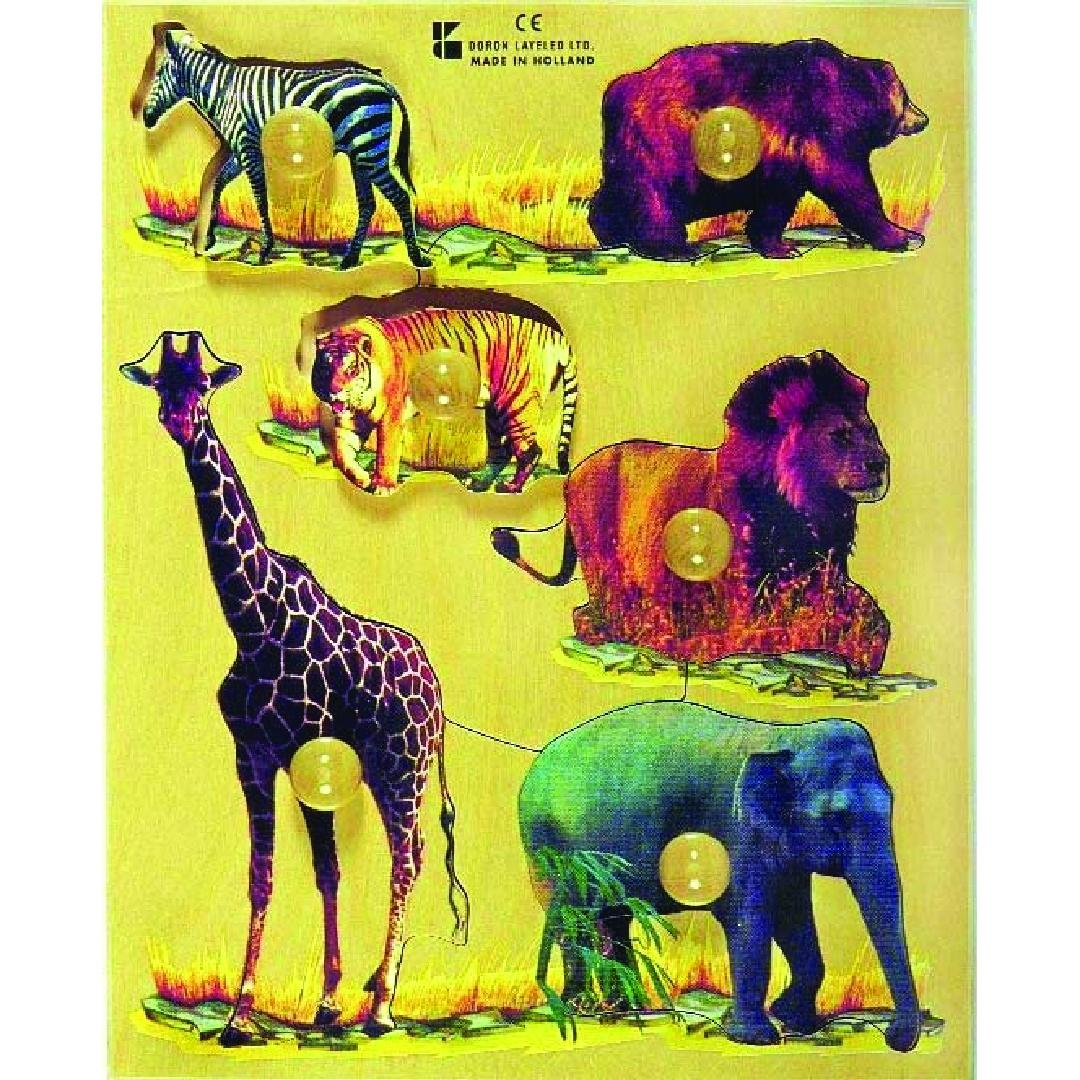 Wild Animals Puzzle (6pcs)