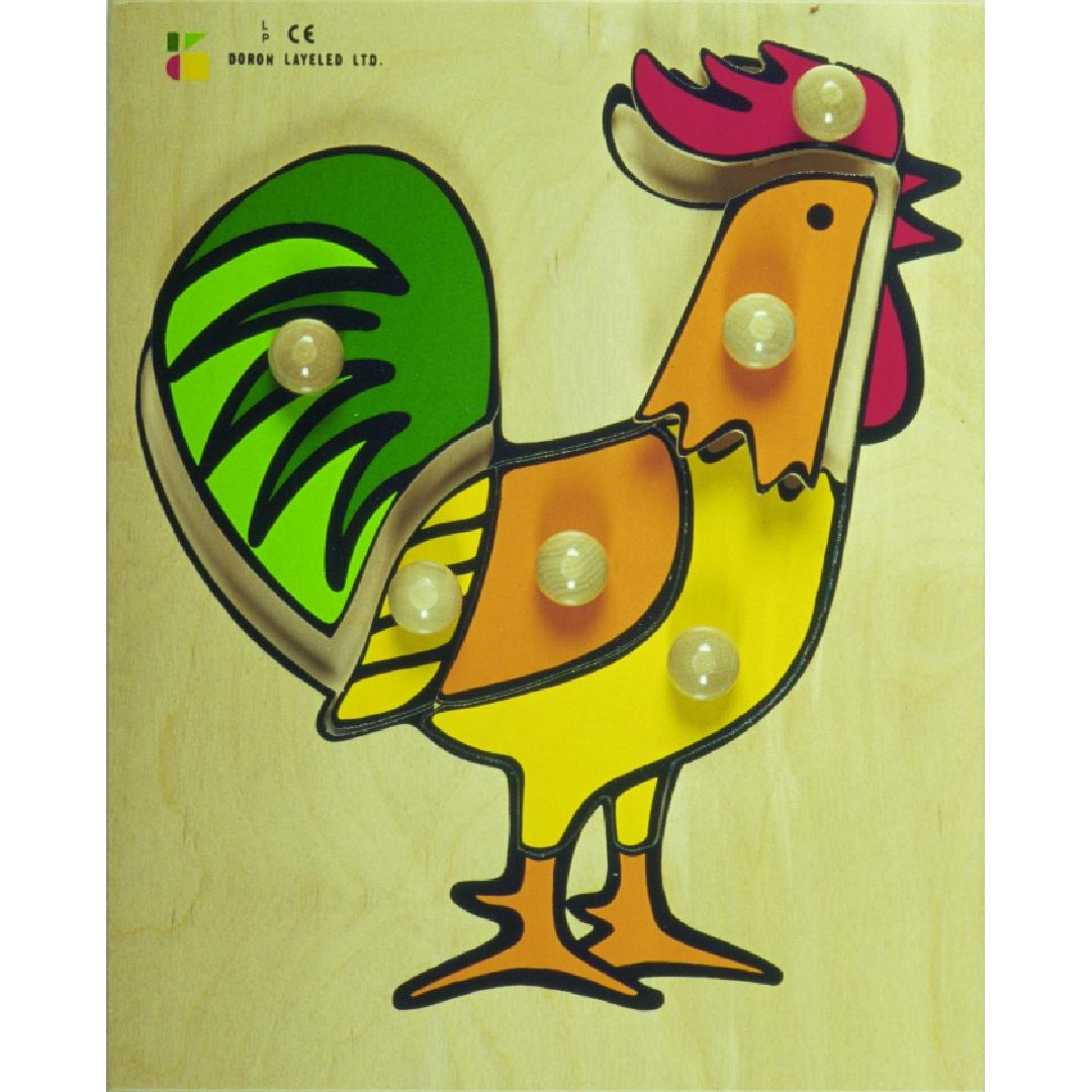 Rooster Puzzle (6pcs)