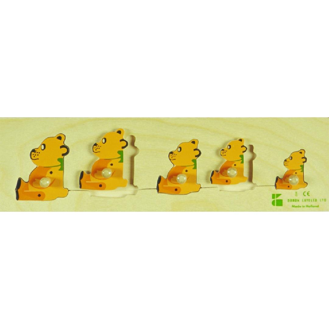 Sequencing Bears Puzzle (5pcs)