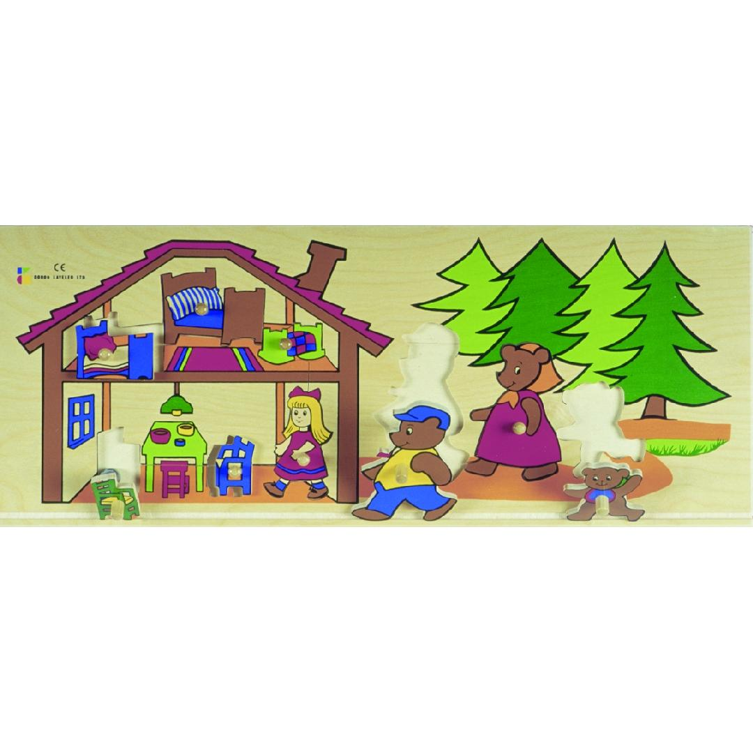 Goldilocks & the 3 Bears Puzzle (9pcs)
