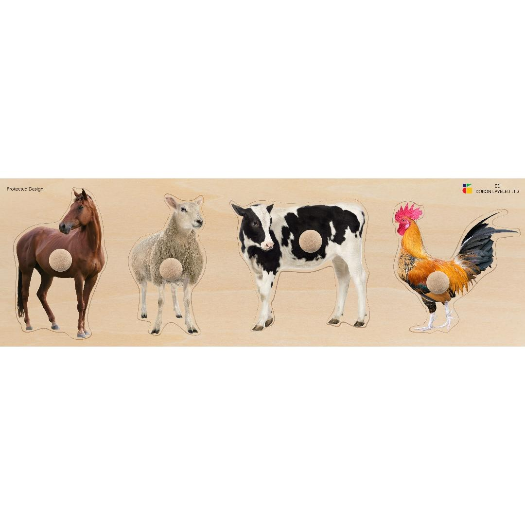 Giant Knob Farm Animals Puzzle