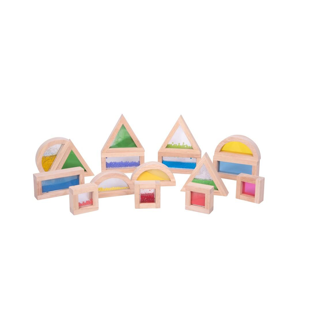 Coloured Sensory Blocks (16pcs)