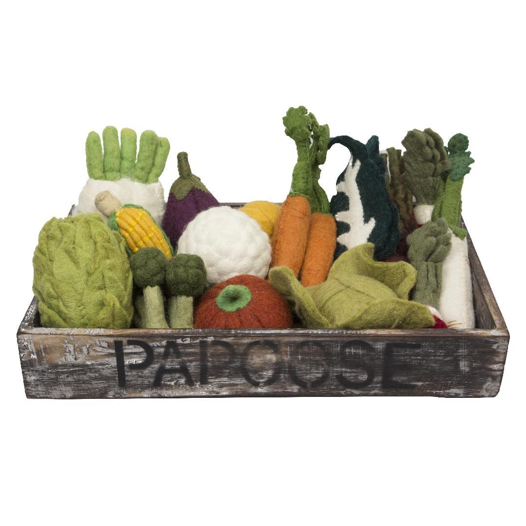 Felt Vegetable Set in Crate (22pcs)