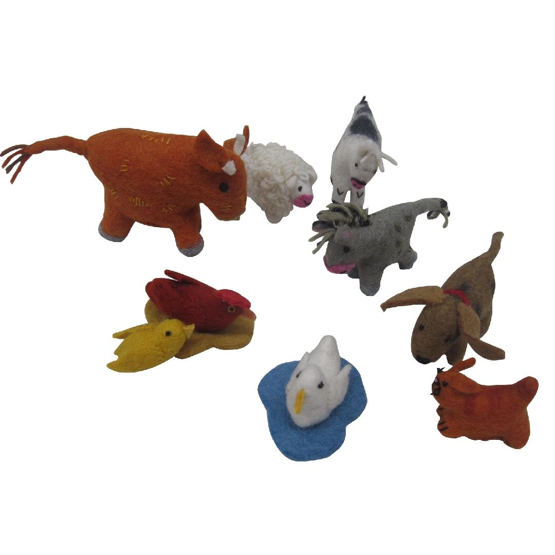 Felt Farm Animals (9pcs)