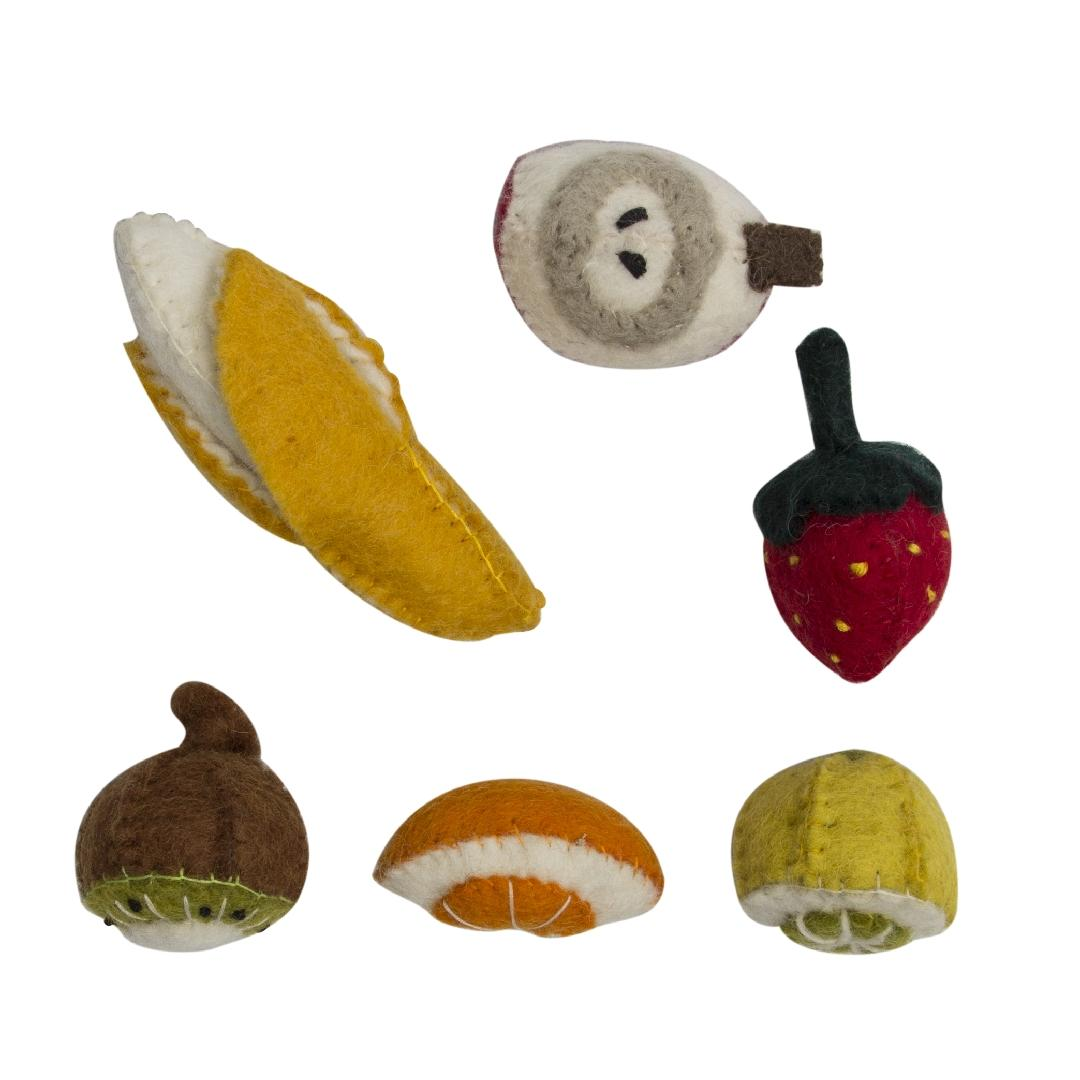 Mini Felt Fruit Set (6pcs)