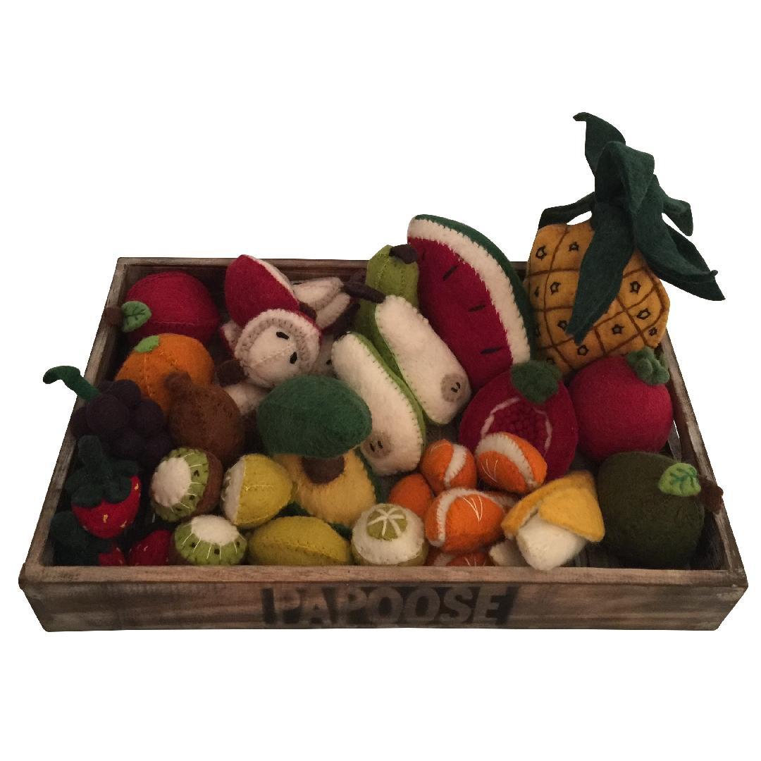 Felt Fruit Set in Crate (36pcs)
