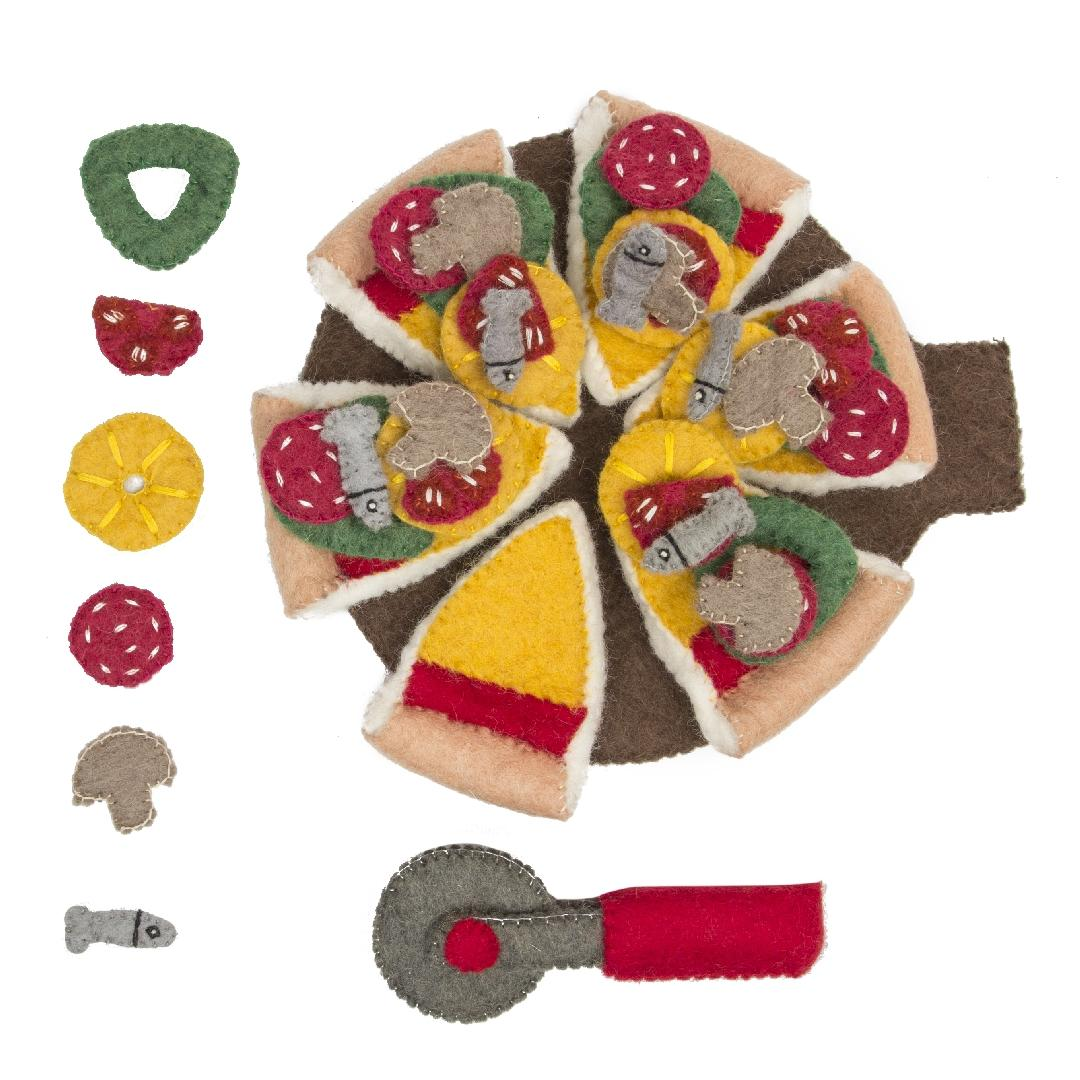Felt Pizza Set (44pcs)