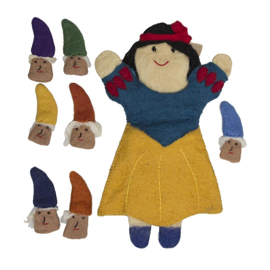 Snow White Felt Puppet Set (8pcs)