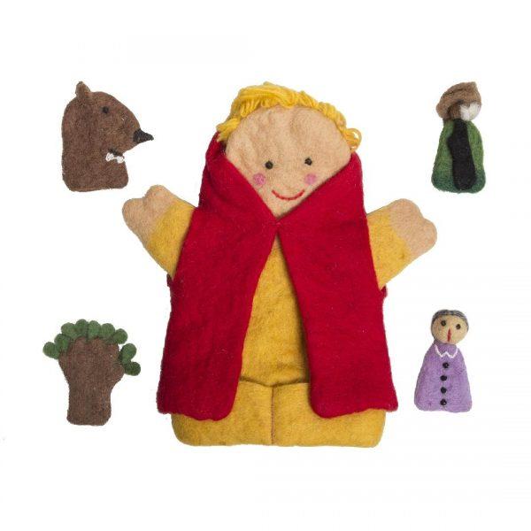 Little Red Riding Hood Felt Puppet Set (5pcs)