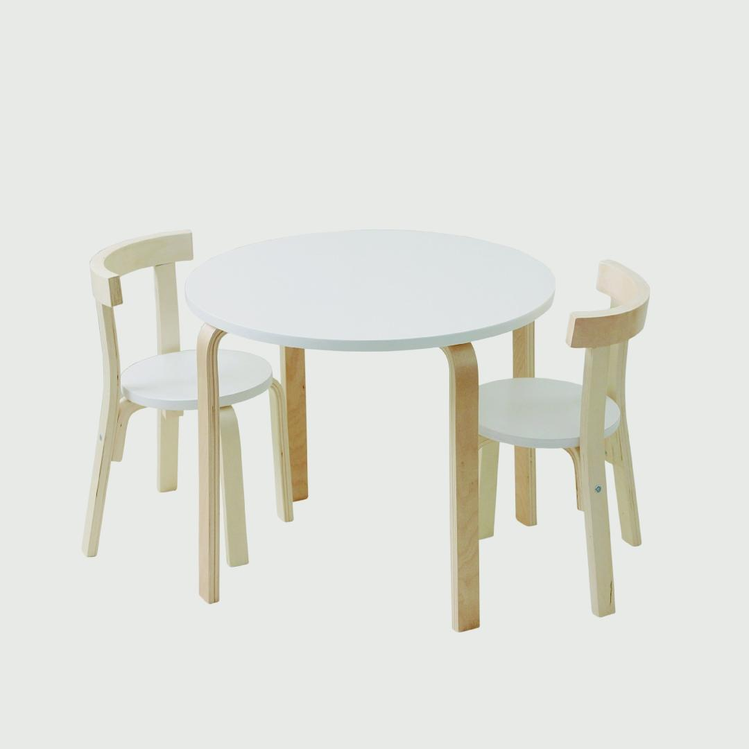 Birchwood Contemporary Natural Table & Chair Set