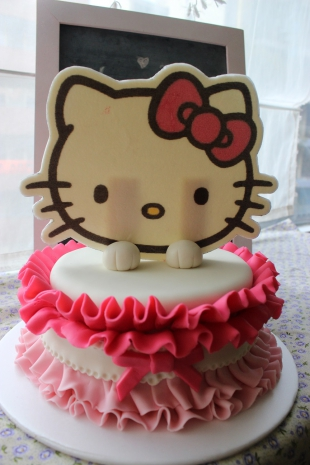 Torta Hello Kitty Ruffles