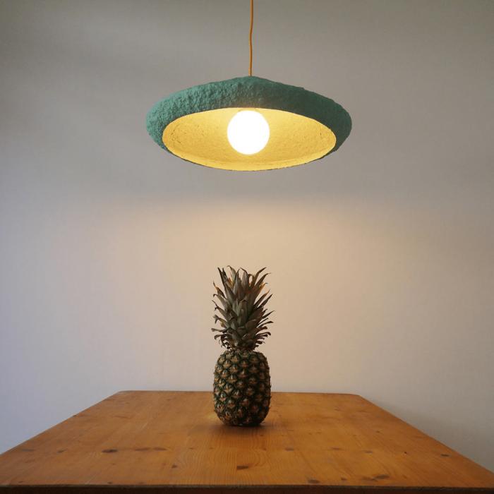 lampara-sostenible-techo-papel-mizuko-verde-lamparas-ecologicas-ekohunters-crea-re