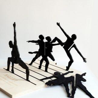 Escultura madera Ballet-0