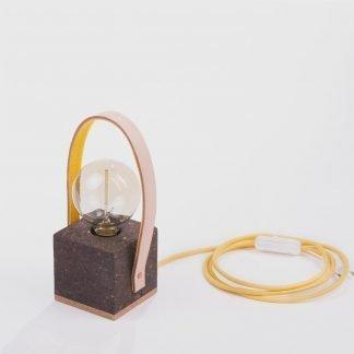Lámpara mesa corcho oscuro Moco base corcho natural-0