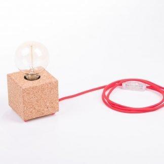 Lámpara mesa corcho natural Moco pin base-0