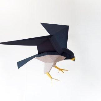 Halcón peregrino origami-0