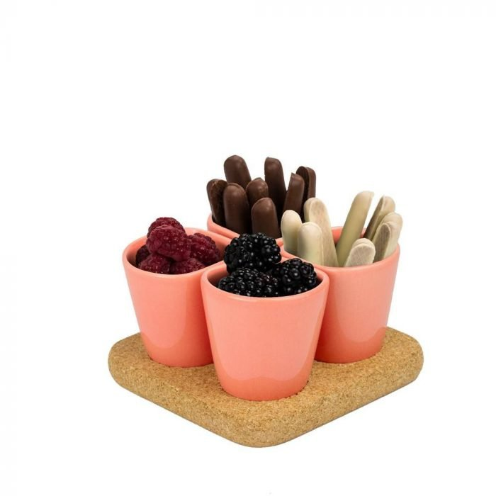Copus 1.0 set of coffee cups with natural cork base-0