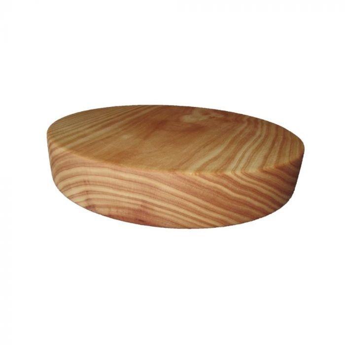 Tabla de cortar redonda de pino-0