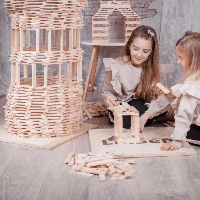 juguete-madera-sostenible-construcicon-lindenwood-cien-piezas-ekohunters