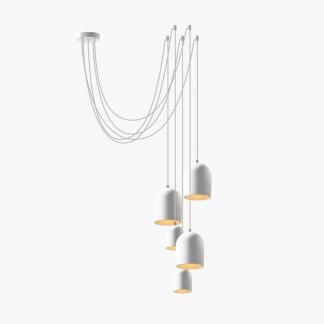 lampara-colgante-sostenible-blanca-cluster-arch-5-blanco-ecodiseno-ekohunters-more-circular