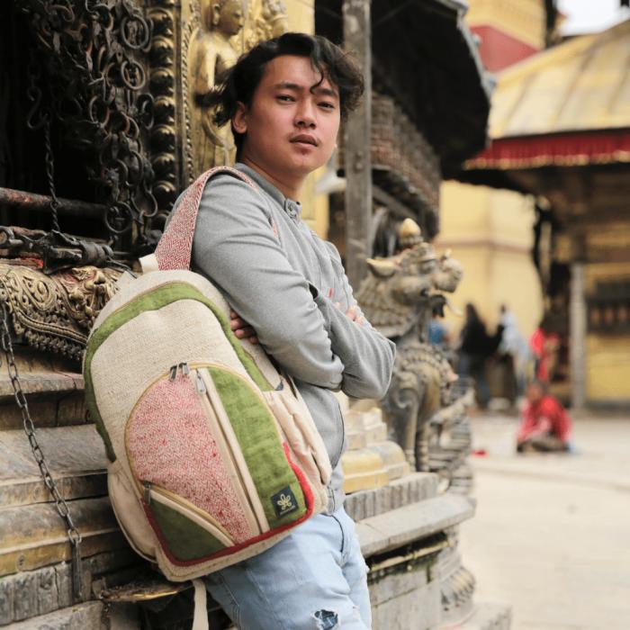 eco-friendly-dokha-green-backpack-ekohunters-bhangara-sustainable-fashion accessories